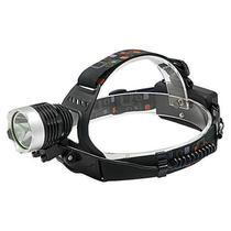 Lanterna LED de Cabeca Quanta QTLDC41 de 10 Watts T6 Recarregavel - Preto