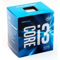 Processador Intel LGA1151 i3-6100 3.7GHZ 3MB 6TH Gen