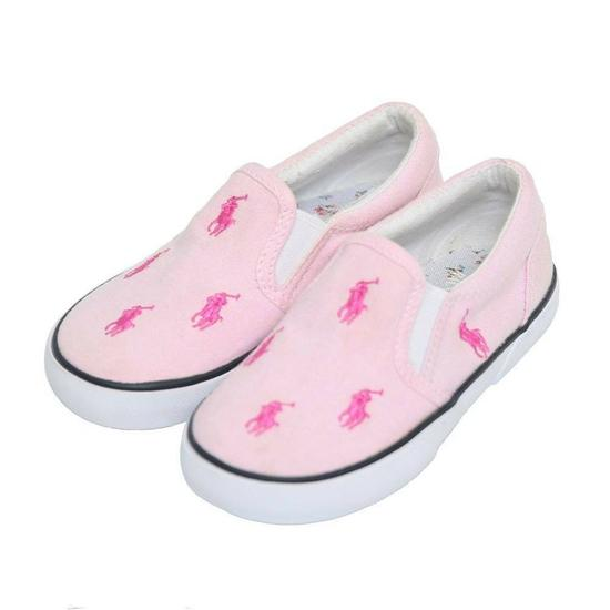 bbeb2dc73b Tênis Ralph Lauren Polo Oxford Cloth Pink Infantil Feminino foto 1