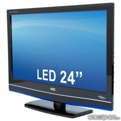 tv aoc led le24h037 full hd 24 no paraguai. Black Bedroom Furniture Sets. Home Design Ideas