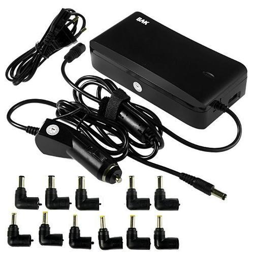 Fonte de Alimentacao para Notebooks BAK BK-833U com 11 Plugs Universal de 150 Watts - Preto