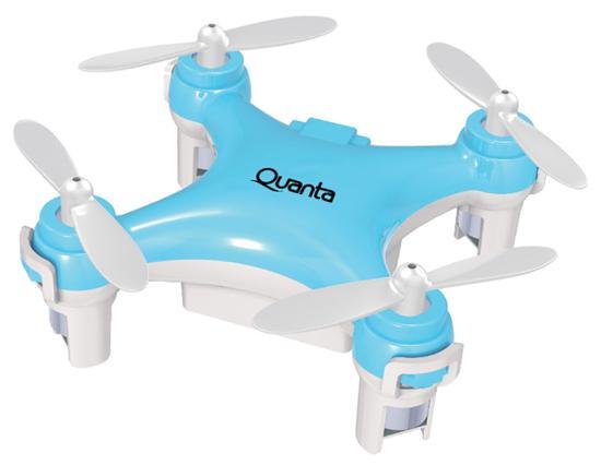 Mini Drone Quanta QTPDR2036 com Controle Remoto Azul