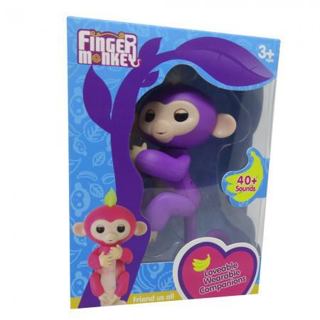 Boneco Baby Monkey Fingerlings Lilas