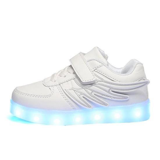 Tenis LED com Asas Branco #30
