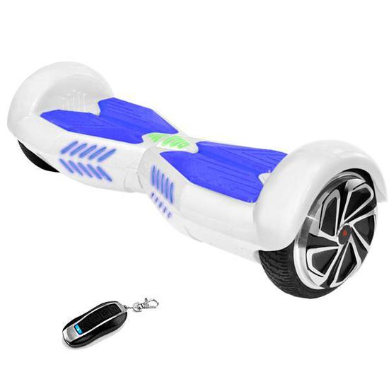 Scooter Eletrico Smart Balance Wheel JIC-65BT-Scoot-K 6.5&Quot; Speaker/Bluetooth - Branco/Azul