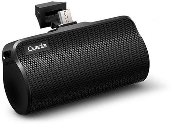Carregador Portatil Quanta QTCPT6500 - Micro USB 3000MAH - Preto
