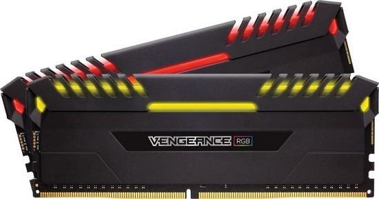 Memória DDR4 Corsair 16GB(2X8) 2666 Vengeance RGB Blac