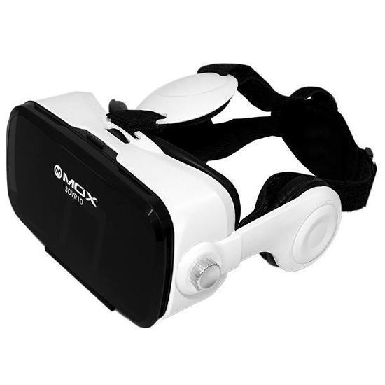 c3f5269e4 Oculos de Realidade Virtual 3D Mox 3DVR10 com Fone de Ouvido - Preto/Branco