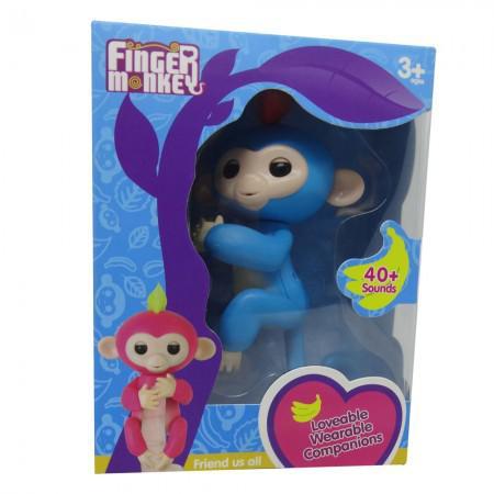 Boneco Baby Monkey Fingerlings Azul