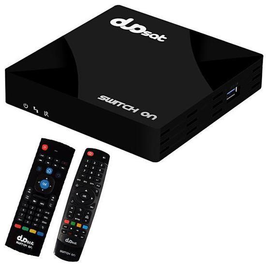 Receptor Fta Duosat Switch On Ultra HD com Wi-Fi/Iptv/HDMI Bivolt - Preto