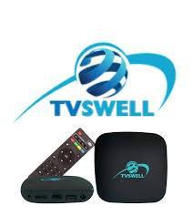 Receptor Digital Tvswell Wi-Fi / Iptv / 4K 1080 HD / HDMI / USB / Lan - Preto
