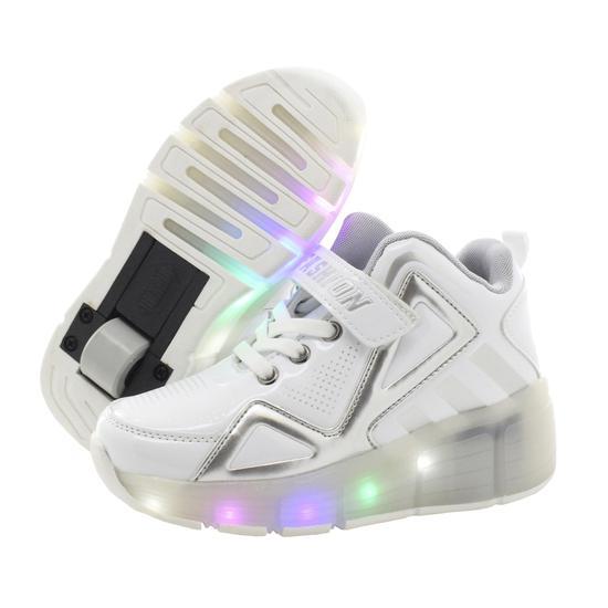Tenis Roller LED Branco #33