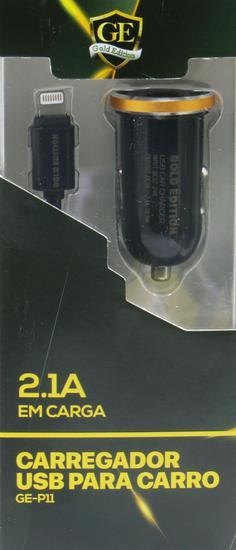 Carregador para Carro Lightning Gold Edition GE-P11 - 2 Portas