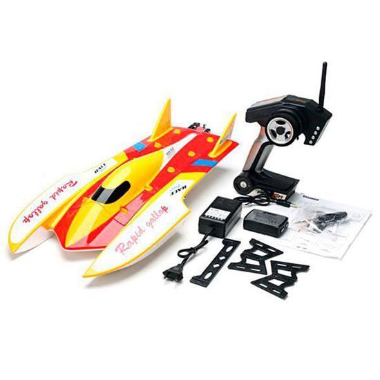 Barco de Controle Wltoys WL913 2.4GHZ de Ate 50KM/H - Vermelho/Amarelo