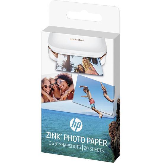 Papel p/ HP Sprocket 1WS91A 5X7.6CM c/20 Folhas