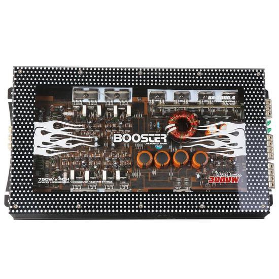 Amplificador Booster 4CH BA-2000.4 Stereo 3000W