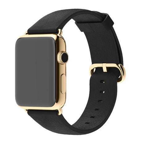 0ad60893f93 Relogio Smartwatch Modelo Apple Preto com Dourado