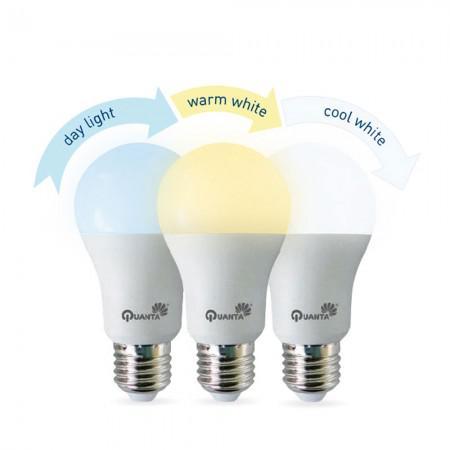 Lampada LED Quanta Atmosphere 9W / 800 Lumens / 3 Cores / Bivolt