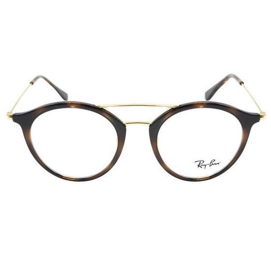 97f8a687fe69b Armacao para Oculos de Grau Ray-Ban RX7097  2012  49 Feminina -  Havana Dourado