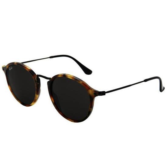 Oculos de Sol Ray-Ban Round Fleck RB2447  1157  4 Feminino Tartaruga Preto ab99ef2763