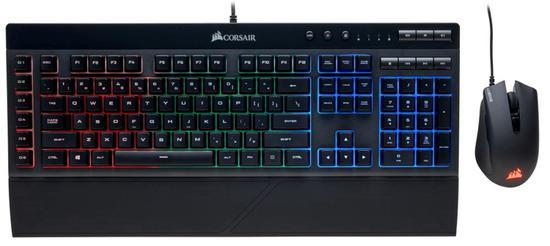 Teclado e Mouse com Fio Corsair Gaming K55 RGB - Preto (Portugues)