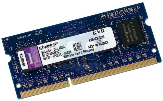 Memória p/Notebook Kingston 4GB/1333 MHZ DDR3 Sodimm KVR13S9S8
