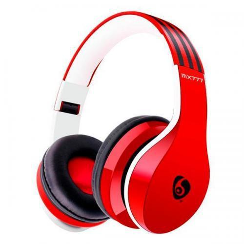 Fone de Ouvido Sem Fio Ette MX777 com Bluetooth/Microfone - Vermelho