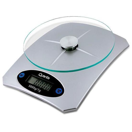 Balanca Digital para Cozinha Quanta QTBLC5000 para Ate 5 KG - Prata