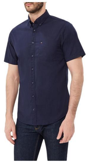 Camisa Tommy Hilfiger Stretch Poplin MW0MW05980 414 - Masculina