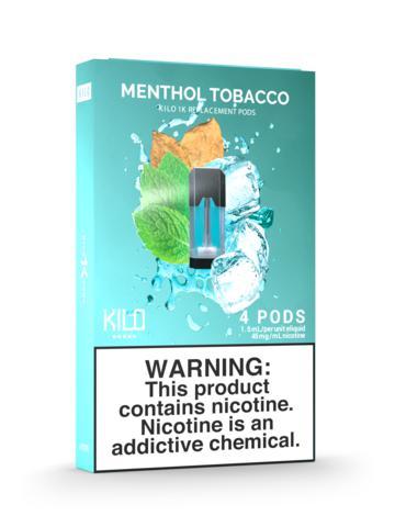 Pods Kilo 1K Menthol Tobacco 4PCS