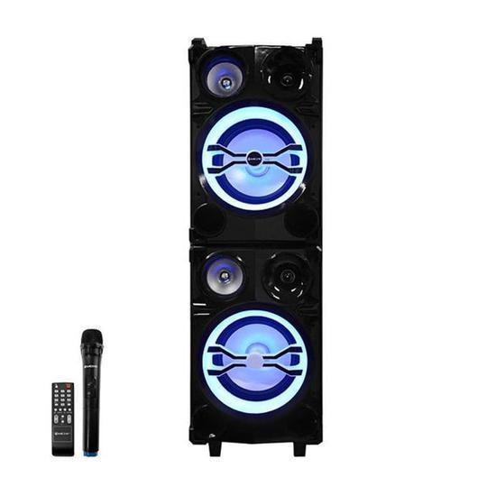 Caixa de Som de Som Karaoke Mox MO-K722B 10 24.000W com Bluetooth/USB + Microfone - Preto