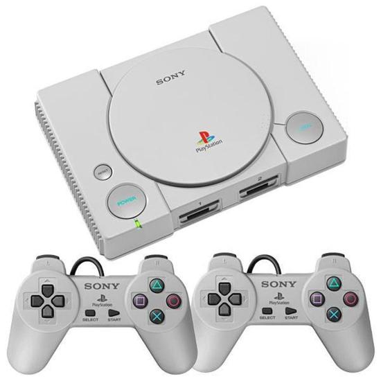 Console PS1 Playstation Classic Sony SCPH-1000R com 20 Jogos Bivolt - Cinza