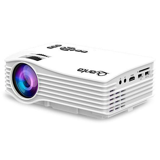 Projetor Quanta QTPRO500 30 Ansi Lumens/ Wi-Fi/HDMI/USB Bivolt - Branco
