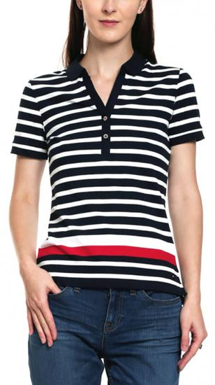 Camisa Polo Tommy Hilfiger Teona WW0WW19562 901 - Feminina
