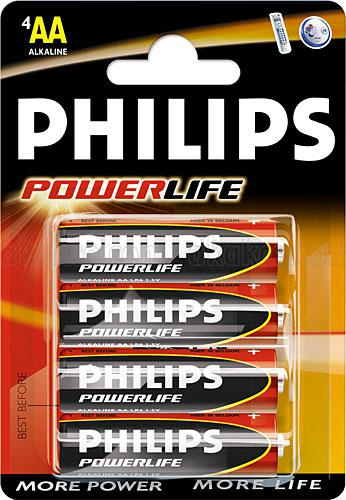 Pilha Philips Alkaline AA LR6-PB4C
