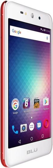 Celular Blu Grand XL G150EQ - 5.5 Polegadas - Dual-Sim - 8GB - 3G - Branco e Vermelho