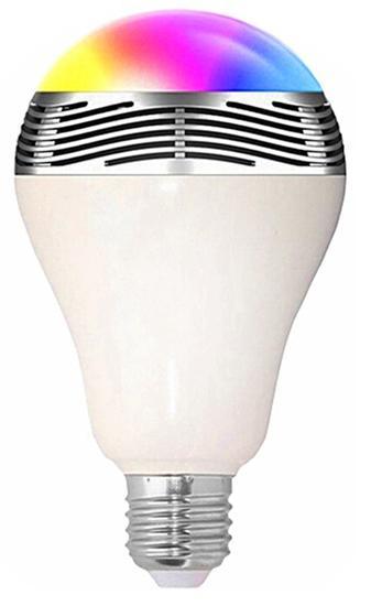 Caixa de Som Lampada Quanta QTLAB1 Bluetooth LED Color RGB