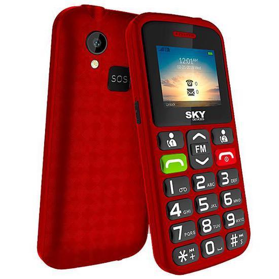 """Celular SKY Devices SKY Torch Dual Sim 64MB Tela de 1.77"""" Camera 0.08MP - Vermelho"""