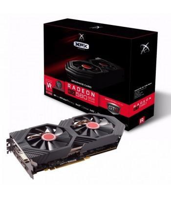 Placa de Vídeo 8G RX-580 Radeon XFX GTS Dual Fan Oc DDR5 .