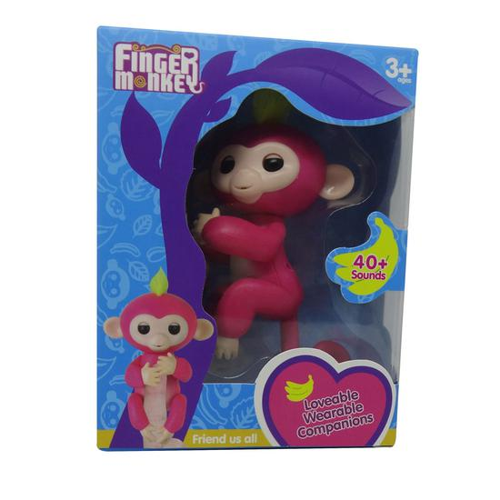 Boneco Baby Monkey Fingerlings Rosa