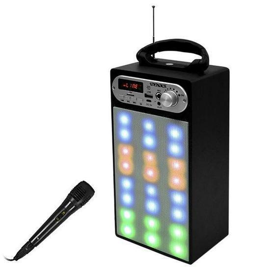 Caixa de Som Amplificada Satellite AS-371 10W RMS/Bluetooth/Karaoke/Bivolt - Preta