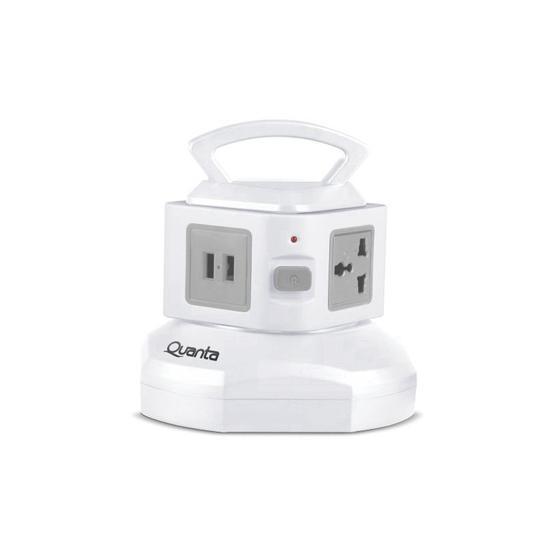 Filtro de Linha Quanta QTEFL0850 3 Tomadas / 2 USB / Bivolt - Branco