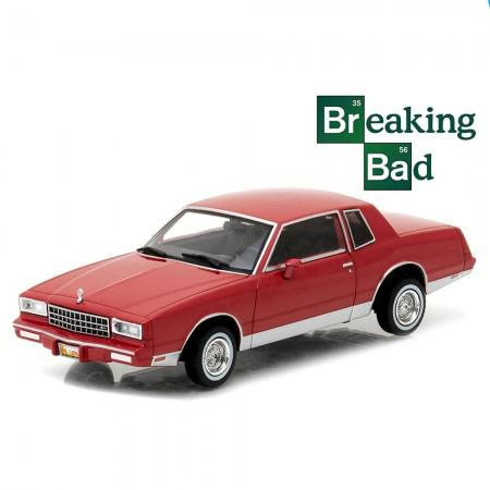 Carro Greenlight Chevy Monte Carlo B.Bad TV 1982 Escala 1/43 - Vermelho