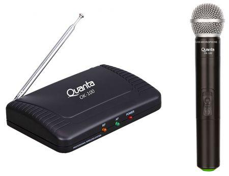 Microfone Wireless Quanta QTMWU-105 - 2V - Sem Fio