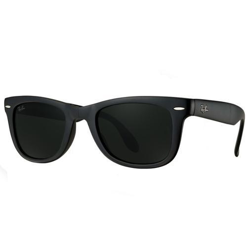 cf5fdf27fa166 ... preto fosco bc99b a9d5b  usa oculos de sol ray ban wayfarer folding  rb4105 601s 1 unissex tamanho fda79 0b007