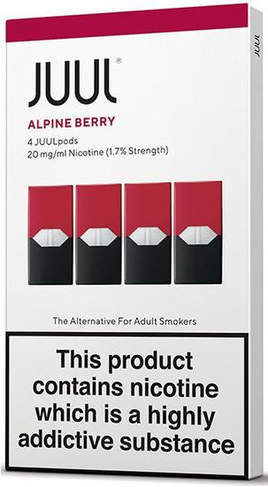 Refil para Vape Juul Alpine Berry - 0.7ML - 20MG - 4 Pods