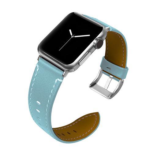 Pulseira 4LIFE de Couro para Apple Watch 38MM - Azul