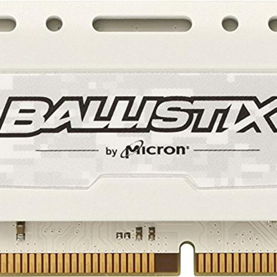Memória Crucial Ballistix Sport White DDR4 8GB 2400MHZ