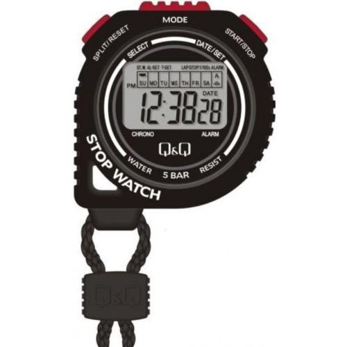 Cronometro Q&Q HS48-001 - Preto/Vermelho