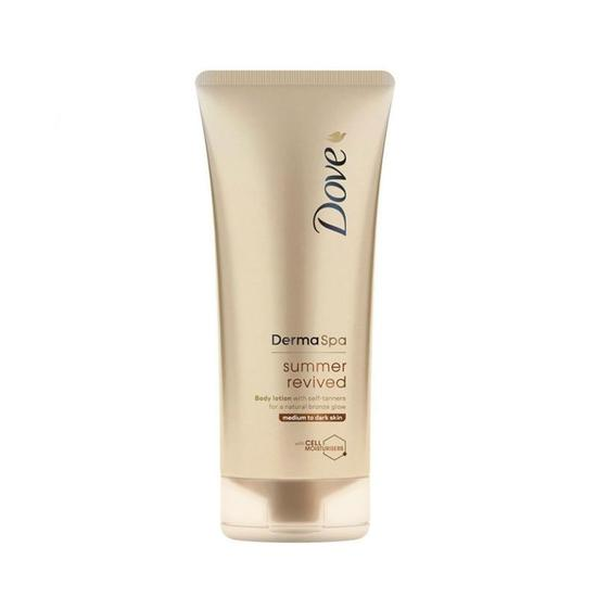 Dove Dermaspa Summer Revived Locao Corporal Autobronzeadora Pele Media Ou Escura 200ML